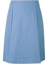 Adam By Adam Lippes Adam Lippes A Line Denim Midi Skirt Blue