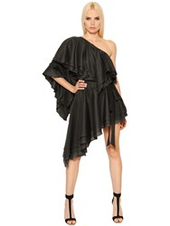 Alexandre Vauthier Ruffled Asymmetrical Cotton Voile Dress