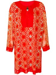 Jean Paul Gaultier Vintage Printed Summer Tunic Red