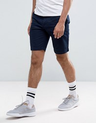 Lacoste Slim Fit Chino Shorts In Navy