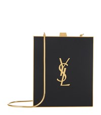 Saint Laurent Tuxedo Monogram Plexiglass Box Bag Black