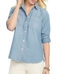 Lauren Ralph Lauren Cotton Long Sleeve Shirt Lepore Wash