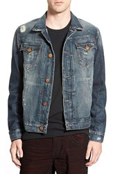 Men's True Religion Brand Jeans X Russell Westbrook 'Dylan' Reflective Trim Denim Jacket
