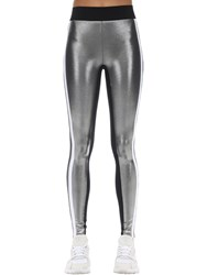 No Ka' Oi Supreme Stretch Techno Leggings Silver