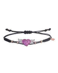 Pippo Perez 18K Pink Gold Diamond And Sapphire Winged Heart Bracelet