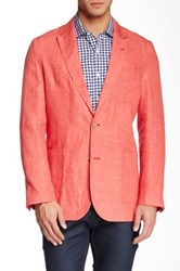 Robert Graham Tango Two Button Peak Lapel Linen Sport Coat Red