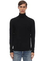 Belstaff Engineered Wool And Cashmere Knit Sweater Black