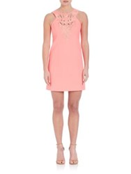 Lilly Pulitzer Lagos Embroidered Cotton Shift Dress Pink Sun Ray