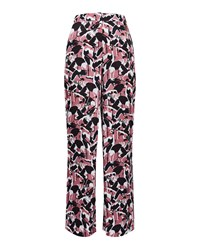 Ted Baker Remeel Crane Print Wide Leg Trousers Dusty Pink