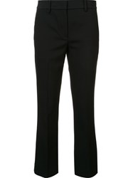 Helmut Lang Cropped Tailored Trousers Black