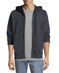 Ovadia And Sons Type O1 Washed Jersey Zip Front Hoodie Black