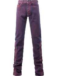 Y Project Buttoned Legs Skinny Jeans Red