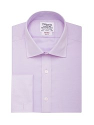 T.M.Lewin Men's Tm Lewin Herringbone Non Iron Slim Fit Shirt Lilac