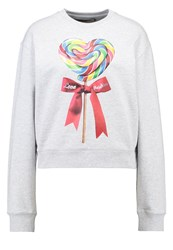 Love Moschino Sweatshirt Grigio Mottled Light Grey