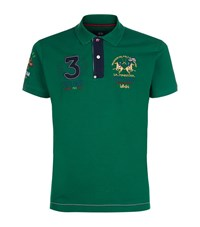 La Martina Slim Fit Pique Polo Shirt Male Green