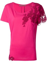 Ermanno Scervino Lace Detailing Blouse Pink Purple