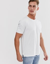 Selected Homme Boxy Fit T Shirt In White