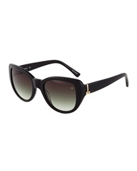 Nina Ricci Bow Detail Cat Eye Acetate Sunglasses Black