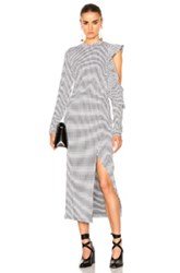 Rodebjer Labe Dress In Black White Checkered And Plaid Black White Checkered And Plaid