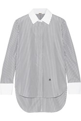 Adam By Adam Lippes Striped Cotton Poplin Shirt