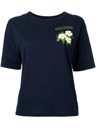 Muveil Flower Patch T Shirt Blue