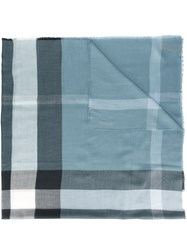 Burberry House Check Scarf Blue