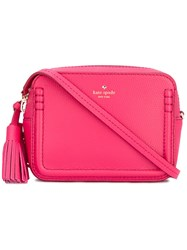 Kate Spade Tassel Detail Crossbody Bag Women Calf Leather Polyester One Size Pink Purple