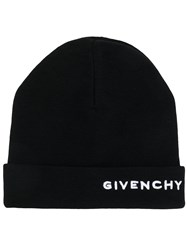 Givenchy Embroidered Beanie Black