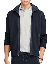 Polo Ralph Lauren Cotton Blend Hooded Track Jacket Cruise Navy