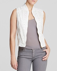 Kut From The Kloth Naara Perforated Faux Leather Vest White