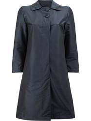 Herno Two Button Trench Polyamide Polyester Spandex Elastane Blue