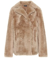 Joseph New Hector Shearling Coat Brown