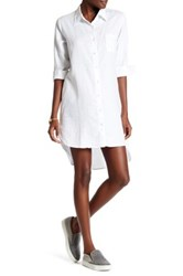 Allen Allen Linen Shirt Dress White