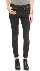 Rta Jane Jeans With Zipper Detail Exploded Black