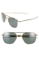 Randolph Engineering 55Mm Aviator Sunglasses Gold
