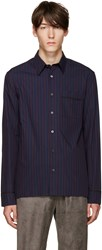 3.1 Phillip Lim Navy And Purple Pyjama Shirt