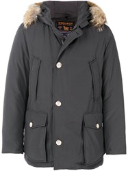 Woolrich Padded Jacket Cotton Feather Down Polyamide S Grey