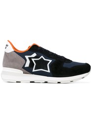 Atlantic Stars Galaxy Sneakers Men Leather Polyester Calf Suede Rubber 41 Blue