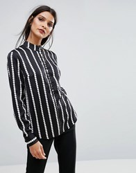 Finders Keepers Carlos Blouse Black Spot Print