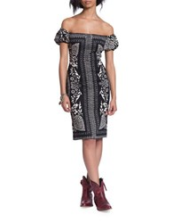 Plenty By Tracy Reese Off The Shoulder Printed Dress Black