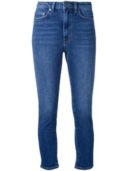 Scanlan Theodore High Waist Cropped Jeans Blue