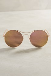 Anthropologie Katrina Mirrored Sunglasses Pink