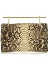 M2malletier Fabricca Python Clutch Animal Print