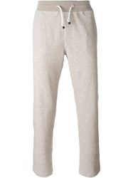 Brunello Cucinelli Drawstring Track Pants Nude And Neutrals