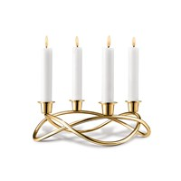 Georg Jensen Season Candle Holder Gold