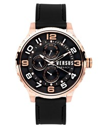 Versus By Versace 50Mm Globe Oversized Chronograph Watch Black