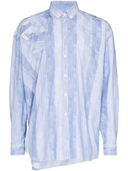 Y Project Oversized Effect Stripe Shirt Blue