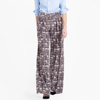 J.Crew Wide Leg Pant In Feather Print