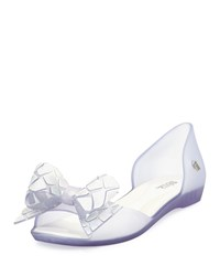 Melissa Shoes Seduce Xii Bow D'orsay Flat Clear