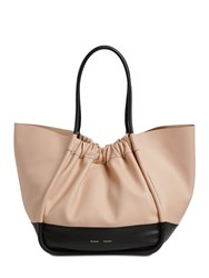 Proenza Schouler Xl Two Tone Smooth Leather Tote Bag Nude